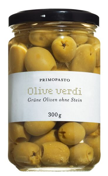 Olive verdi denocciolate, grüne Oliven ohne Stein